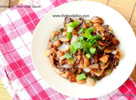 Mushrooms in Black Bean Sauce
