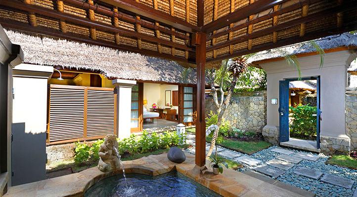 courtyard villa-spring tub mimpi resort