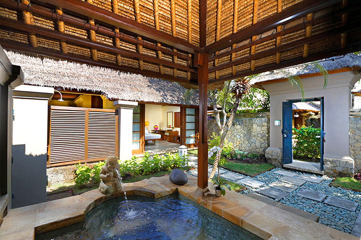 courtyard villa-spring tub mimpi resort