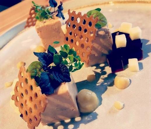 Foie gras et fruits de saison, gelée de