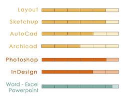Graphique des compétences Informatique - Em.Architecture