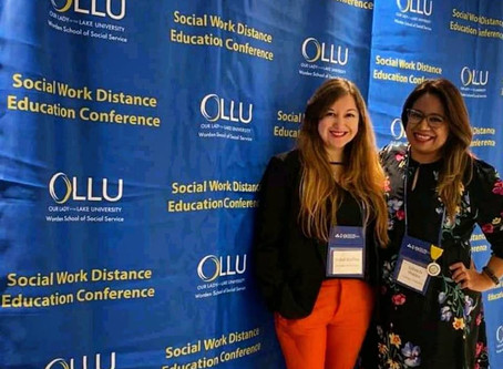 Comparten su experiencia en el evento Social Work Distance Education Conference, en San Antonio, TX.