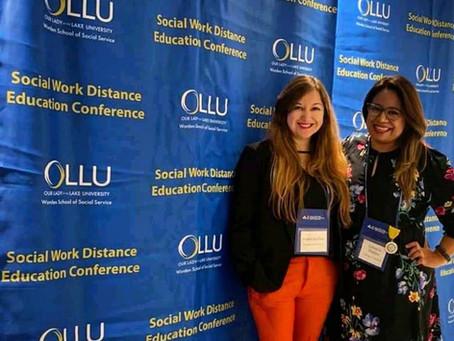 Comparten su experiencia en el evento Social Work Distance Education Conference, en San Antonio, TX.