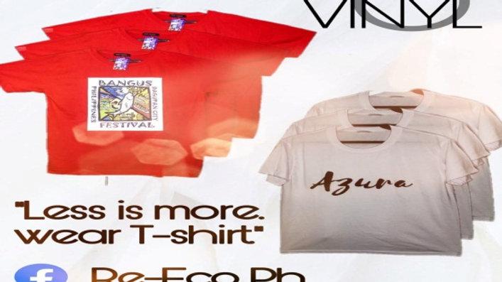 Silk-Screen and Vinyl Customized T-Shirt