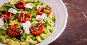 Recipe: Pea and Marinated Cherry Tomato Risotto