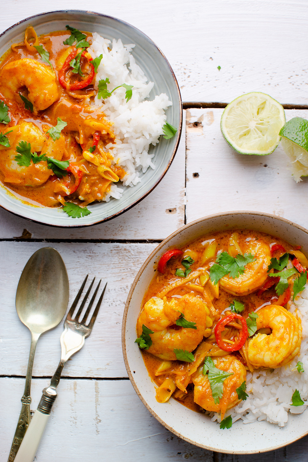 King Prawn and Spicy Maple Coconut Curry - Chatting Food
