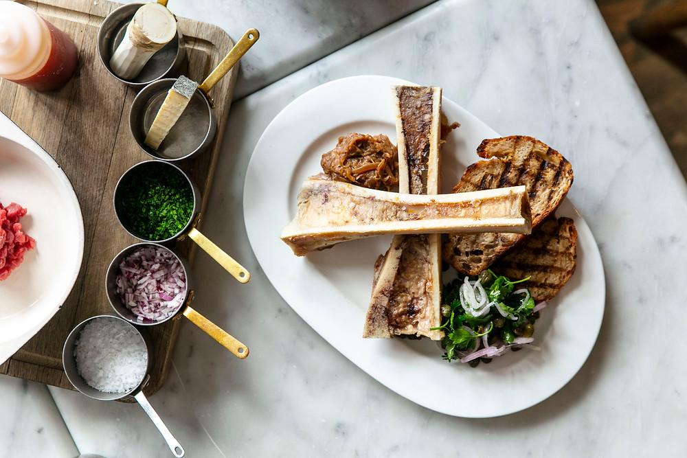 Butlers Chophouse bone marrow and parsley