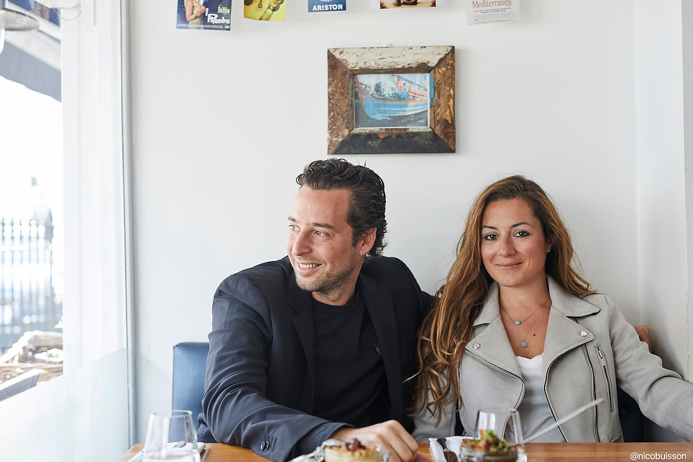 Adrien Carre and Christina Mouratoglou, the entrepreneurial husband and wife team behind Mazi,