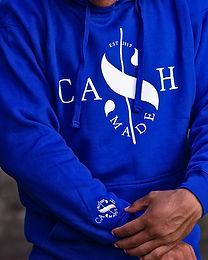 Cash Made Unisex Hoodie - Blue/White