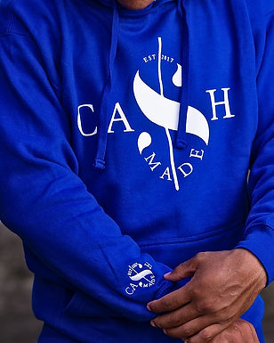 Cash Made Unisex Hoodie - Blue/White