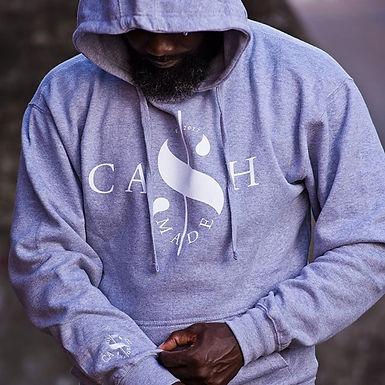 Cash Made Unisex Hoodie - Grey/White