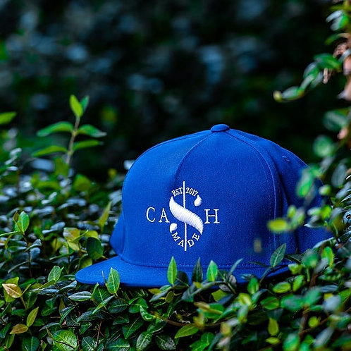 Cash Made Snapback Flat Bill - Blue/White
