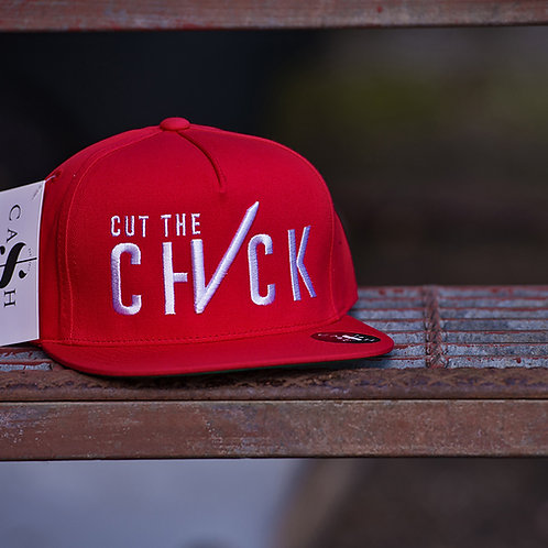 Cut The Check Snapback Red/White