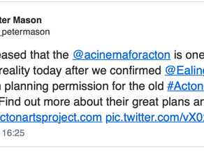 Tweet from Peter Mason