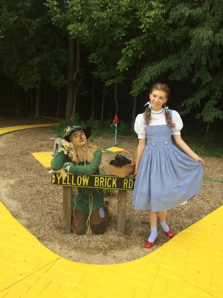 Yellow Brick Road with Scarecrow and Dorothy