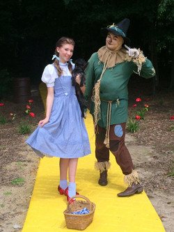 Dorothy and Scarecrow on the Yellow Brick Road