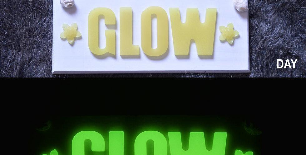 Personalised GLOW IN THE DARK Name Board | YELLOW-GREEN