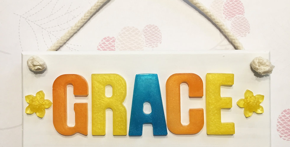 Personalised Name Board Metallic Colours | You Choose Your Colours