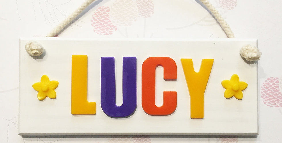 Personalised Name Board Opaque Colours | You Choose Your Colours