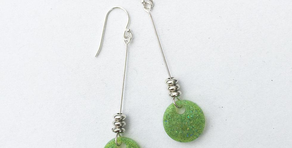 Mini Circles - Lawn Green Metallic
