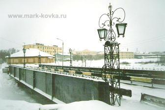 Мост в п. Ловозеро, Мурманская область