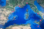 イタリア、マルタ、スペイン、フランスなどを巡る西地中海クルーズ旅行の出着港や寄港地をグーグルマップで確認できます。