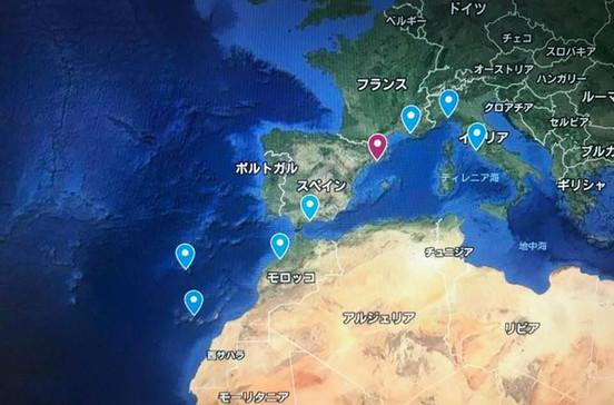 ポルトガル、モロッコ、スペイン、イタリア、フランスの地中海五ケ国とカナリア諸島最大の島「テネリフェ島」を巡るカナリア諸島クルーズ旅行の出着港や寄港地をグーグルマップで確認できます。
