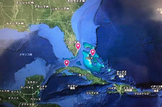 ハバナやキーウエストなどカリブ海・キューバクルーズ旅行の出着港や寄港地をグーグルマップで確認できます。