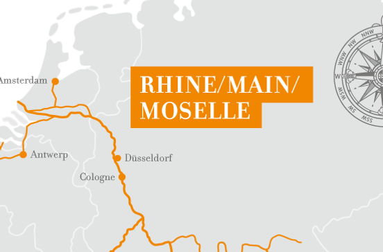 ドイツやオランダ、ベルギーなどライン川クルーズ旅行の出着港や寄港地をグーグルマップで確認できます。