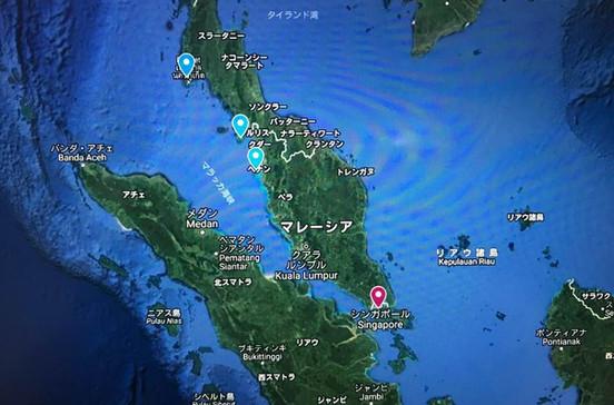 ポートクランやペナン、プーケットなどアジア・マラッカクルーズ旅行の出着港や寄港地をグーグルマップで確認できます。