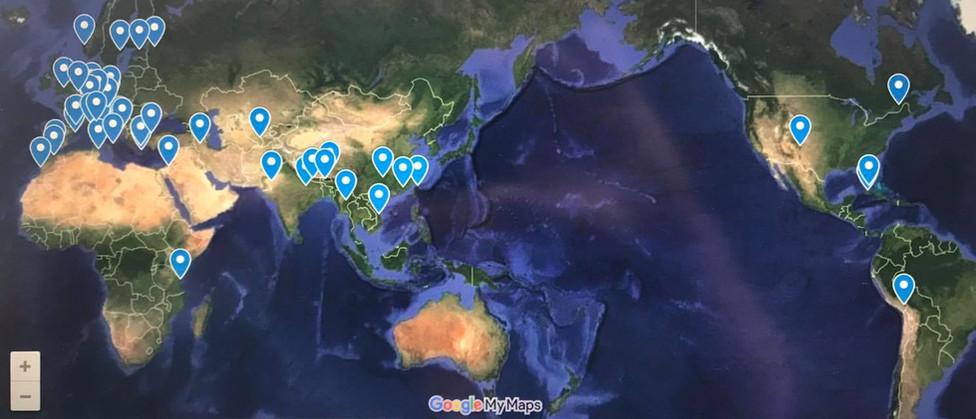 ドブロブニクやベネチア、サントリーニ島などフォトジェニックな中世ヨーロッパの街並みや旅心を誘われるアジア諸国など、一度は訪れたい美しい街を地図にまとめました。クリックするとグーグルマップで確認できます。