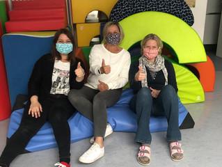Spenden von Behelfsmasken an Kindergarten St. Antonius und Hospizverein in Erding