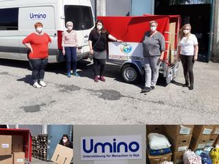 Lieferung nach Bosnien gemeinsam mit Umino