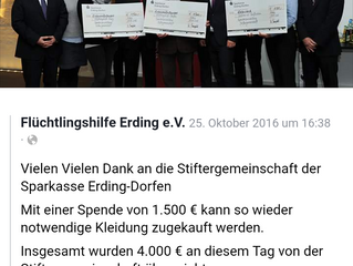 Spende Stiftergemeinschaft Sparkasse Erding-Dorfen