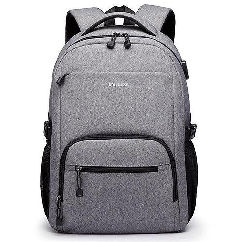 Рюкзак серый, wolf horse. rs0026
