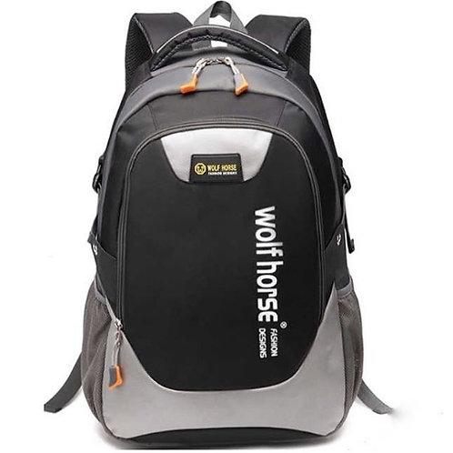Спортивный черный рюкзак, Wolf Horse