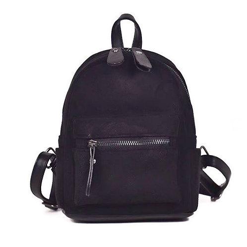 Чёрный замшевый рюкзак