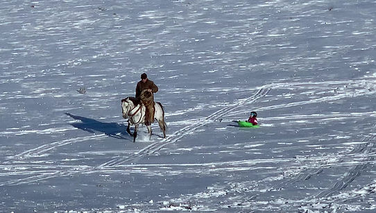 Dragging a sled