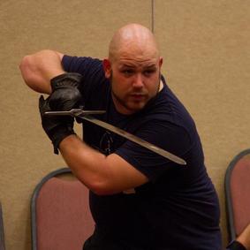 Rob preparing to strike