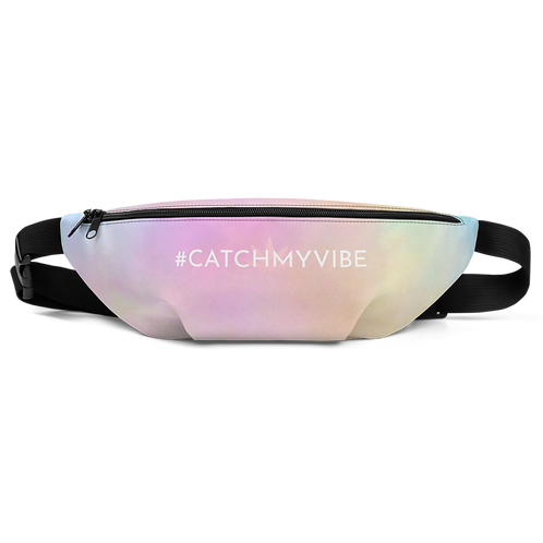 Hashtag Catch My Vibe Cotton Candy Fanny Pack by Being Out Of Office