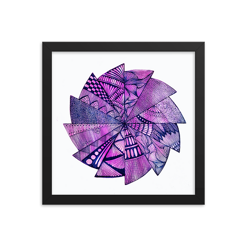 Purple Dreams Mandala Framed Poster by Corporate Hippie X Being Out Of Office