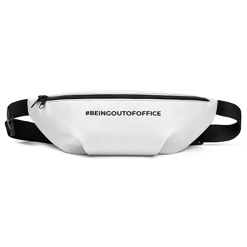 Hashtag Being Out Of Office Fanny Pack White by Being Out Of Office