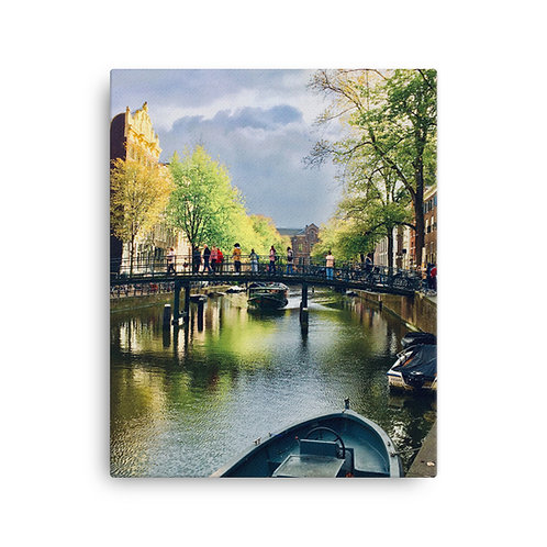 Life is a Painting, Amsterdam on Canvas by Being Out Of Office
