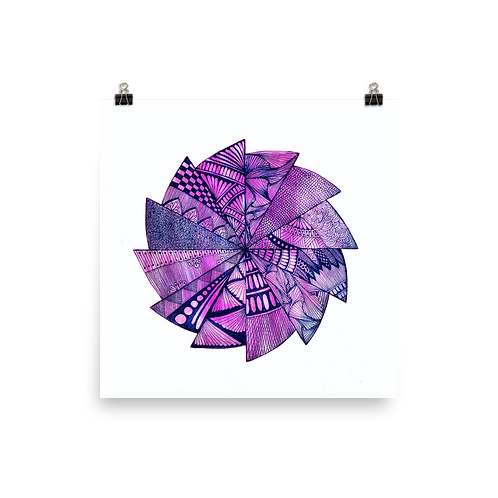 Purple Dream Mandala Poster by Corporate Hippie X Being Out Of Office