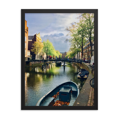 Life is a Painting, Amsterdam Framed Poster by Being Out Of Office