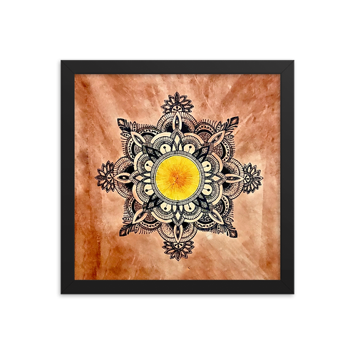 Sun Mandala Framed Poster by Corporate Hippie X Being Out Of Office