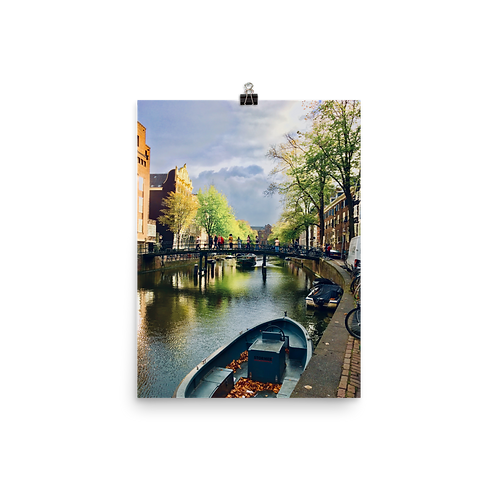 Life is a Painting, Amsterdam Poster by Being Out Of Office