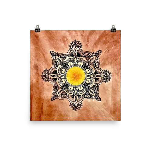 Sun Mandala Poster by Corporate Hippie X Being Out Of Office