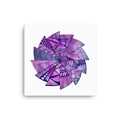 Purple Dreams Mandala on Canvas by Corporate Hippie X Being Out Of Office