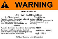 Arc Flash Label